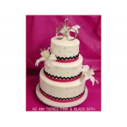 Tiered Pink & Black 50th