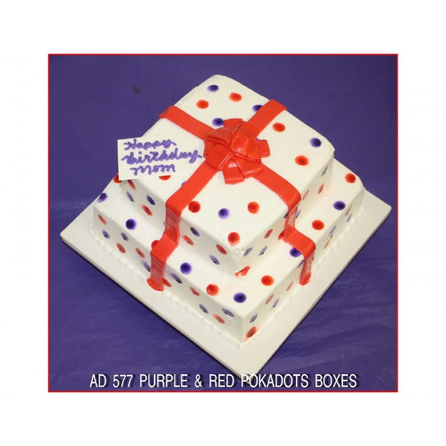 Purple & Red Pokadot Boxes