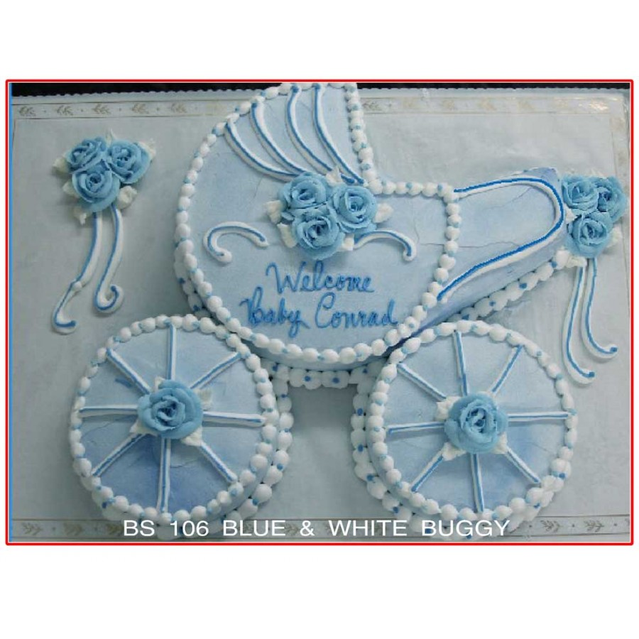 Blue & White Buggy
