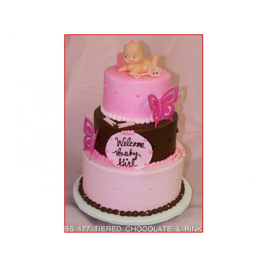 Tiered Chocolate & Pink