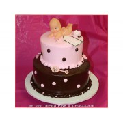Tiered Pink & Chocolate