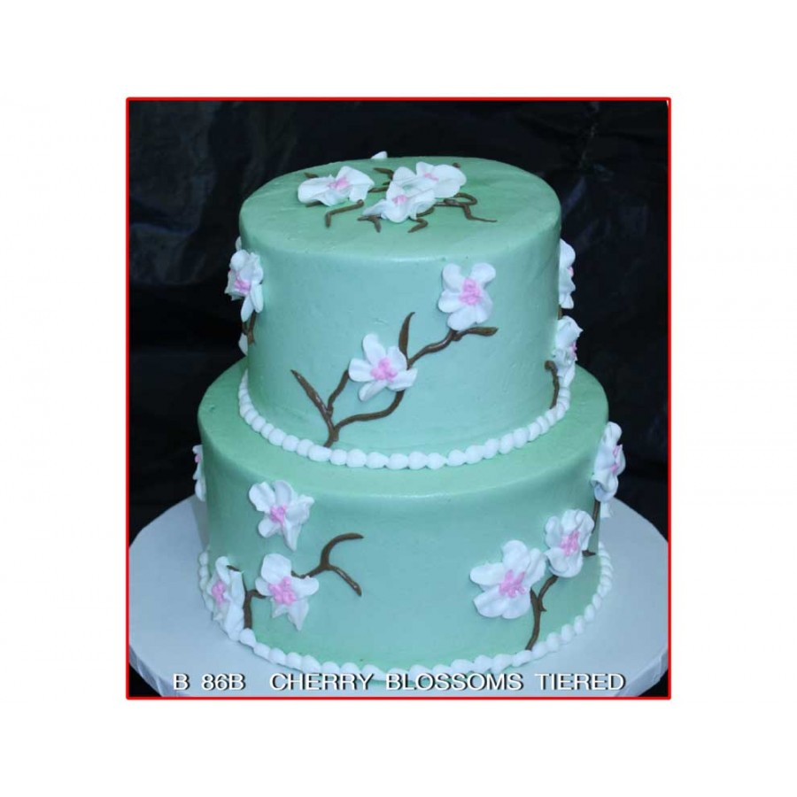 Cherry Blossoms Tiered