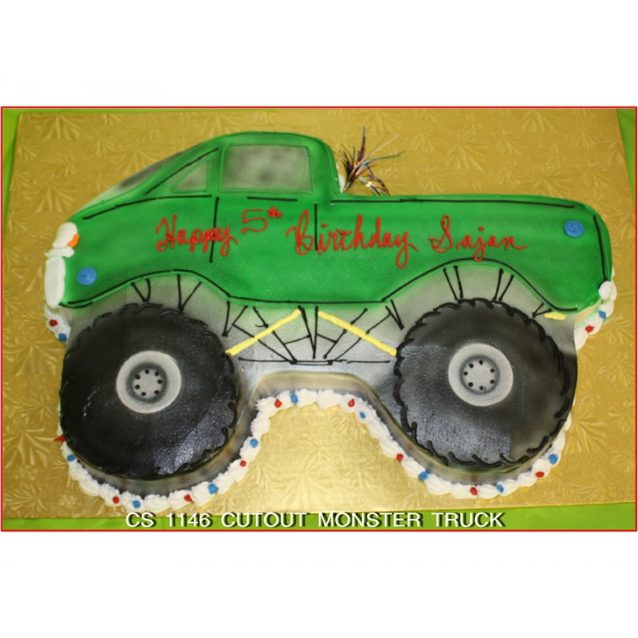Cutout Monster Truck