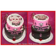 Tiered Pink Skull