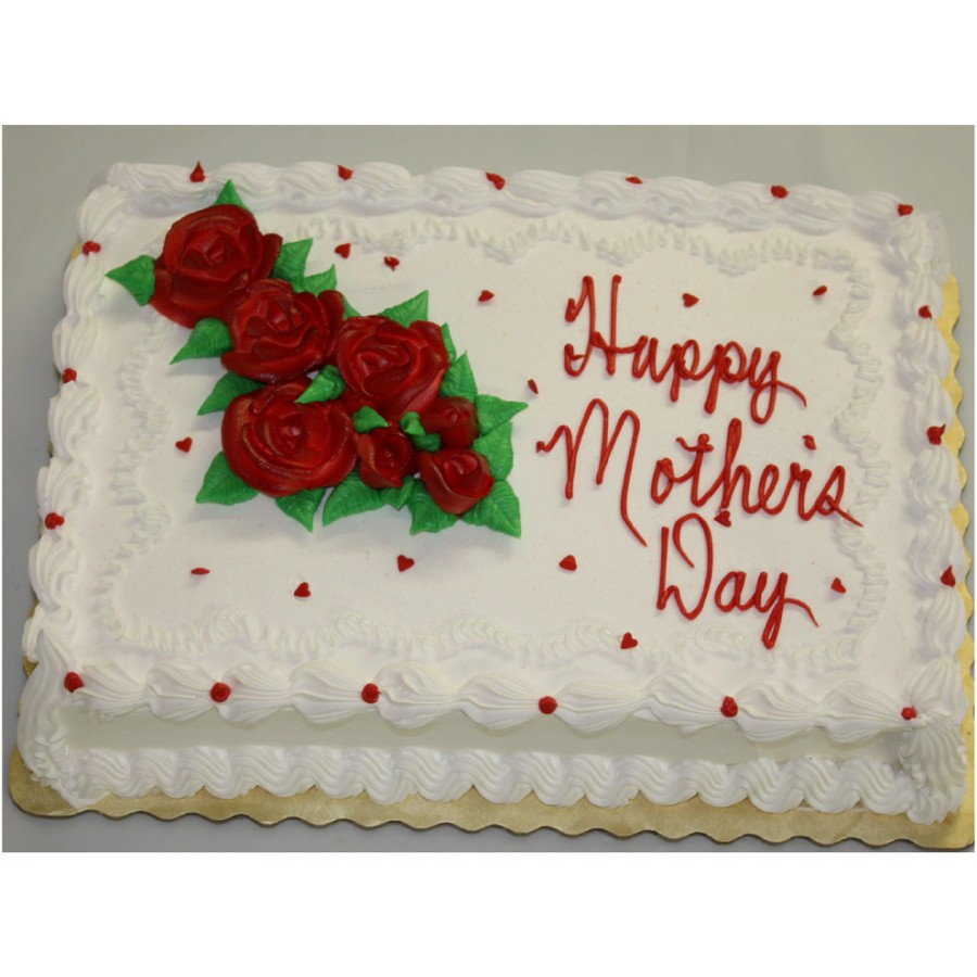 Mother's Day Red Cake