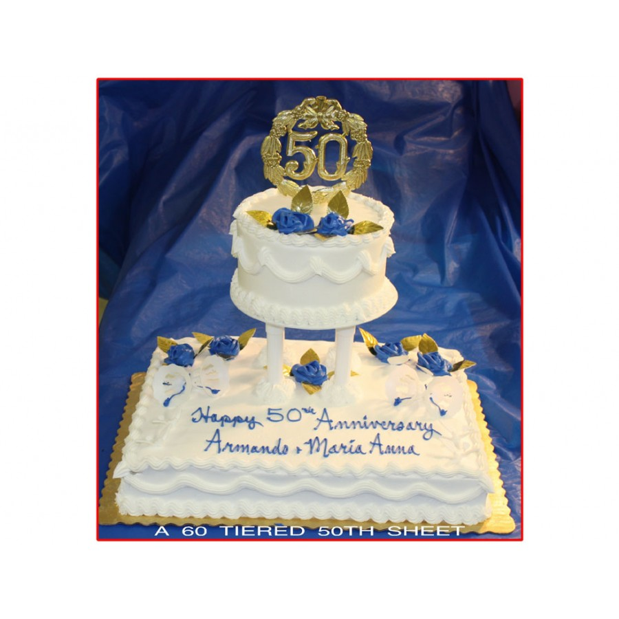 Tiered 50th Sheet Cake