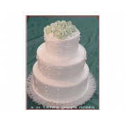 Tiered Green Roses