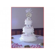 50th Pink & Gold Tiered