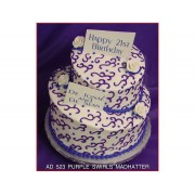 Purple Swirls Madhatter