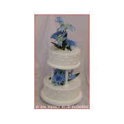 Tiered Blue Flowers