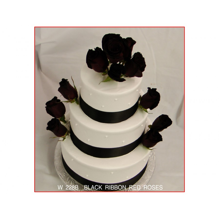 Black Ribbon Red Roses